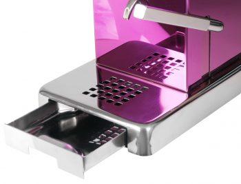La Piccola Piccola Pink ESE Kaffeemaschine violett Restwasser Edelstahl