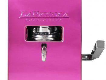 La Piccola Piccola Pink ESE Kaffeemaschine violett front Detail