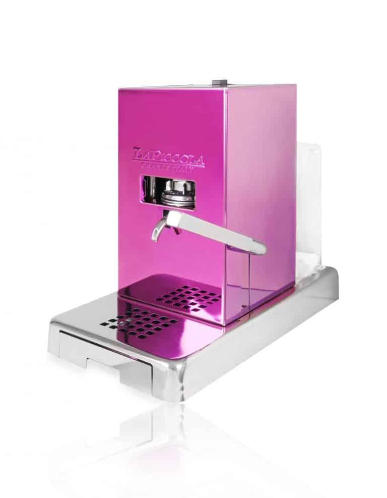 La Piccola Piccola Pink ESE Kaffeemaschine violett pink seitlich