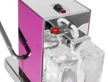 La Piccola Piccola Pink ESE Kaffeemaschine violett pink zweifarbig Detail