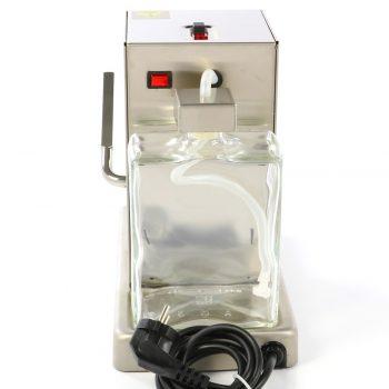 La Piccola Piccola Satin Pad ESE Espressomaschine Neues Modell 2019 hinten Glastank