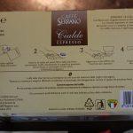 Caffe Serrano Verpackung Rückseite E.S.E Pads