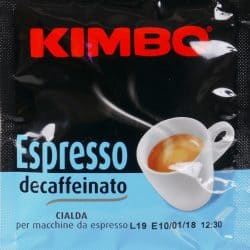 Kimbo Espresso decaffeinato ese pad entkoffeiniert