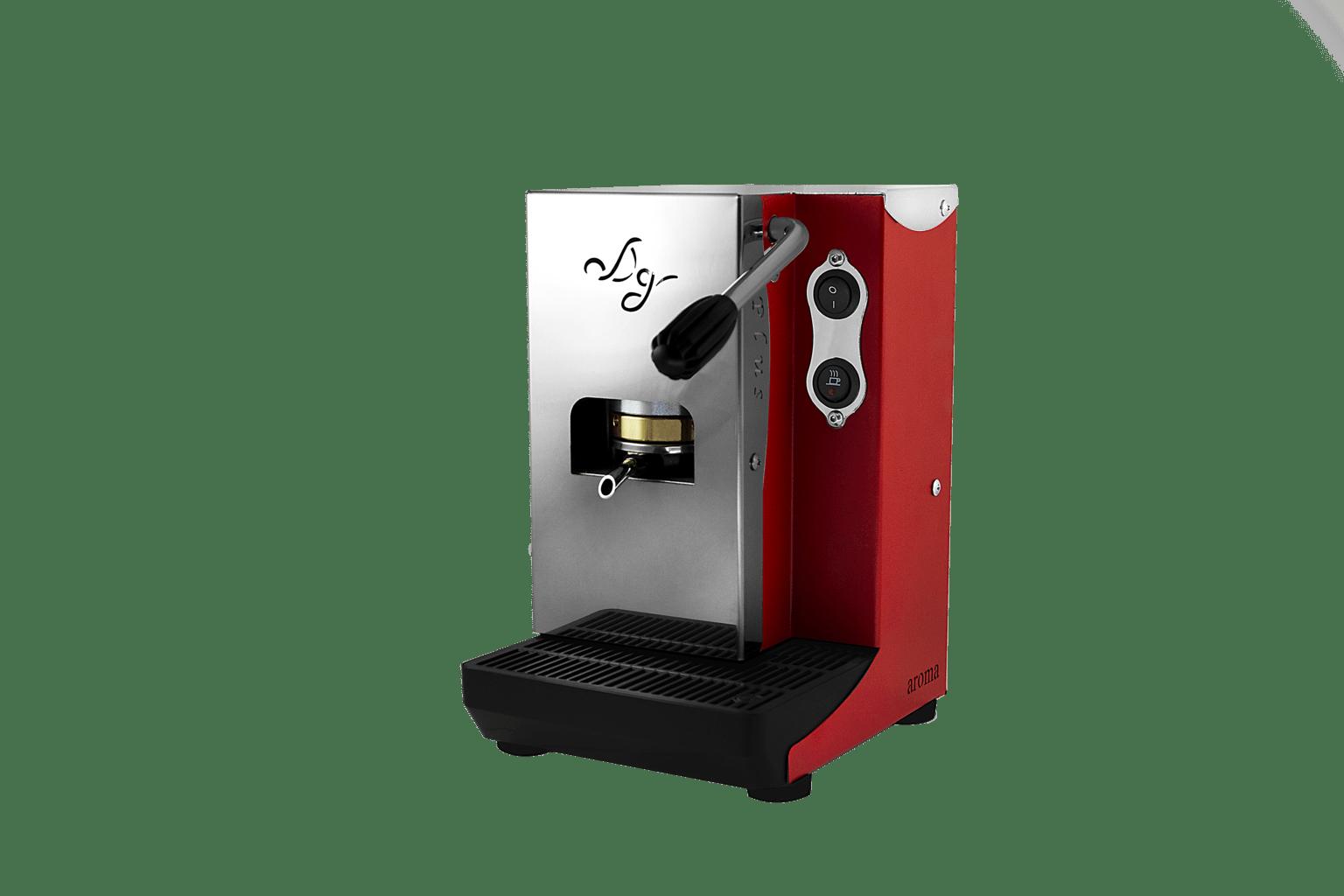 Aroma Plus ESE Pad Espressomaschine Rot