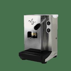 Aroma Plus ESE Pad Espressomaschine Silber Edelstahl
