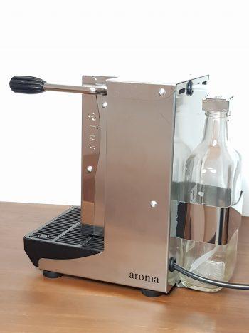 Aroma Plus ESE Pad Maschine Edelstahl Seitenansicht