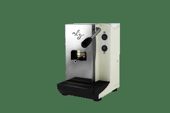 Aroma Plus Espressomaschine fuer ESE Pads Weiß