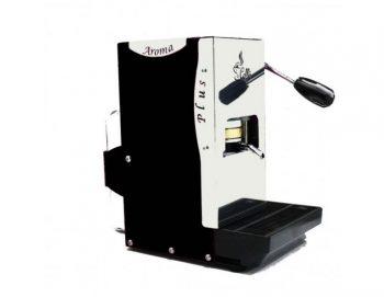 Aroma Plus schwarz Espressomaschine links
